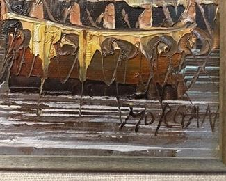 Very attractive oil painting signed Morgan