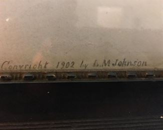 Beautiful Antique Print copywrite 1902 by L. M. Johnson