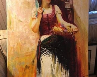 Girl working painted by Wiliam Jennings 2009