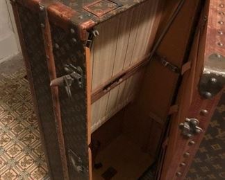 Rare find 1920's (especially in this good of condition for age) Louis Vuitton Monogram Steamer Travel Trunk. We have taken several pictures of trunk to view.