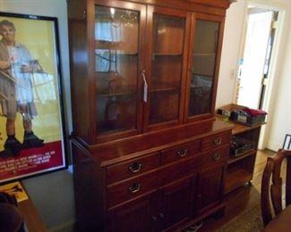 Hinkle-Harris wild cherry china cabinet.