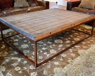 Restoration Hardware Brickmaker's coffee table