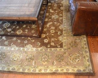 Wool rug from Restoration Hardware, measures approx. 8' X 10'