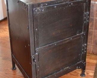 Restoration Hardware metal side cabinet
