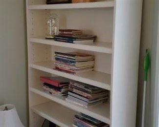 Tall and Wide White Bookshelf