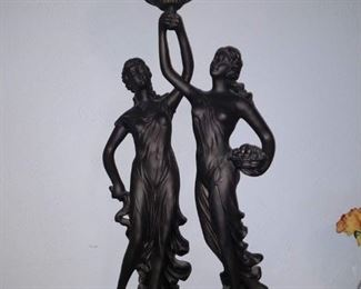 Art Nouveas Figural Lamp