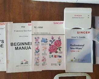 Embroidery Machine Singer Quantum XL-1000 - Manuals and Pattern Card Plus Reader, Sew-Ware Software