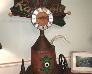 Fantastic funky clock. This won the show at a local arts festival.