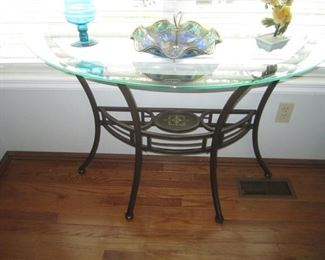 HALF MOON GLASS TABLE