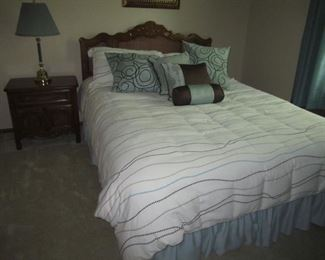QUEEN SIZE BED  MATTRESS NOT FOR SALE