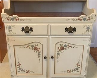 Ethan Allen Dry Sink Cabinet, beautifully stenciled in a Hitchcock style.