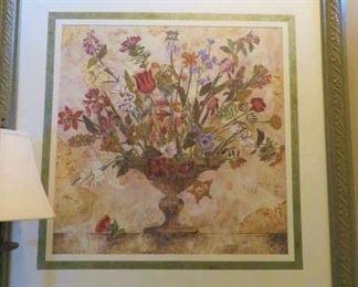 Large Framed Floral Centerpiece Art Print