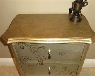 Celeste Silver/Gold Accent Chest of Drawers