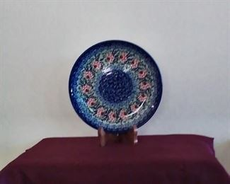 Polish Hand made pottery plate
