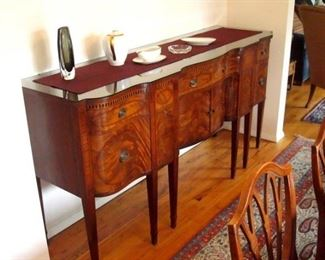 Rare Vintage Batesville Cabinet Co. sideboard. This sideboard is part of a complete dining room suite by this famous maker.