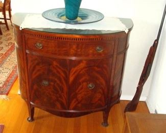 Batesville Cabinet co Demilune cabinet. Will be sold separately.