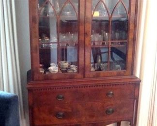 Batesville Cabinet Co china cabinet. and con tents