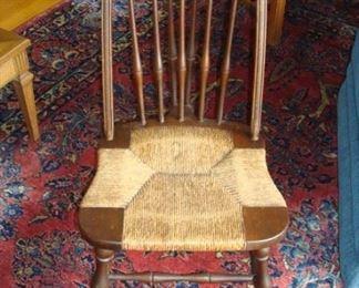 Rush seat chair.