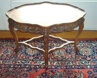 Hand carved lamp table.