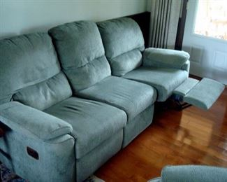 Sofa with recliners.