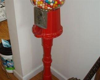 vintage gumball machine.