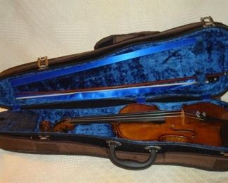 Antique violin and bow.