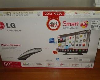 LG 50 inch smart 3-d HDTV . will be set up for sale.