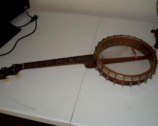 Antique Vega tenor banjo.