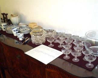 Glass & china collectibles.