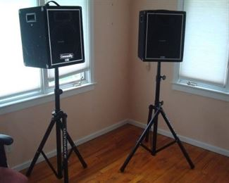 Pair CSX-25 community speakers on Ultimate stands.