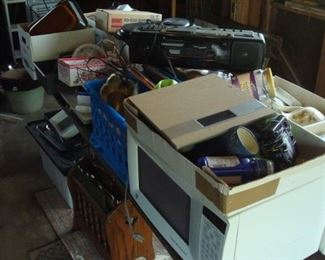 Items in garage to be sorted