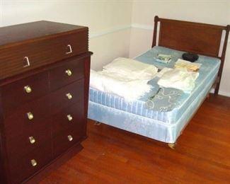 Vintage twin bed.