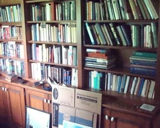 Office, includes antique and German books & etc.