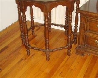 Vintage 1940's octagon table.
