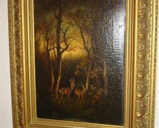 Antique original oil painting.