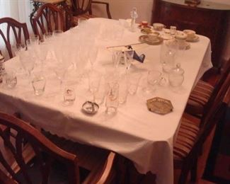 Some of the crystal stemware. Much more not shown yet.
