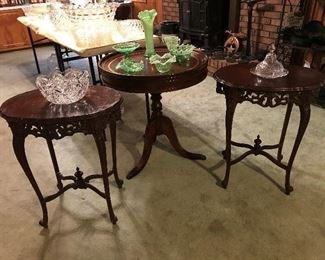 Ornate Mahagony tables