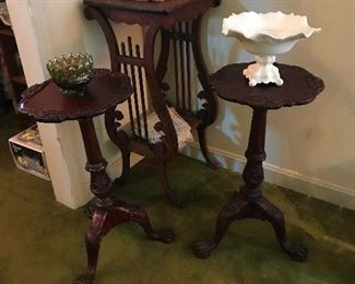 More side tables. Lyre base Plant Stand