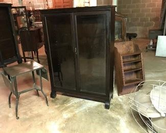 Old display cabinet needs shelving