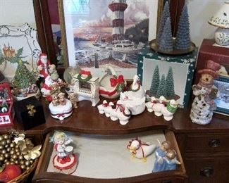 FRITZ AND FLOYD, JAPAN AND MANY DIFFERENT CHRISTMAS ITEMS