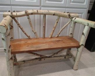 VERY NICE RUSTIC FULL SIZE BENCH