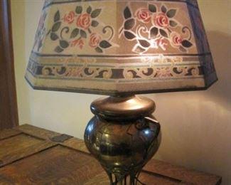 Art Nouveau with original mesh shade.