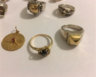 Fine Gold Rings & Pendant plus MORE FINE Solid Gold Diamond Rings, Pink Sapphire & MUCH more!