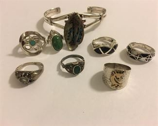Fine Selection Native American Southwestern Jewelry Rings