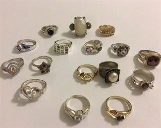 Fine Designer Made High-End Sterling & Gold Vermeil w/ GENUINE Gemstones; fabulous pieces!
