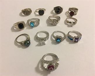Fabulous Collection Modern Sterling Silver Cocktail Rings - our client LOVED her rings!
