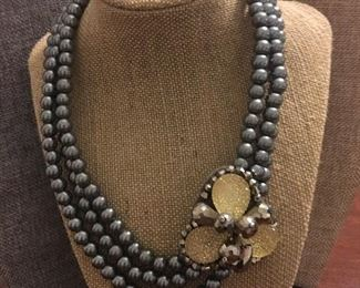 Signed High Fashion Statement Necklace