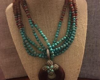 Fine Turquoise Genuine Gemstone Necklace