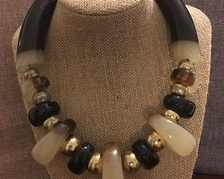 Tribal & Gold Statement Necklace