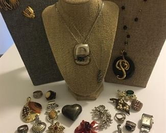 TONS More High Fashion: Fabulous Vintage Brooches, Sterling Silver Bracelets & Rings, Ladies Watch & MUCH More!